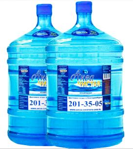 "Вода ""Аква чистая"" 2 бутыли по 19л."