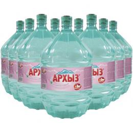 Вода Архыз 9 бутылей по 19 литров, пэт.