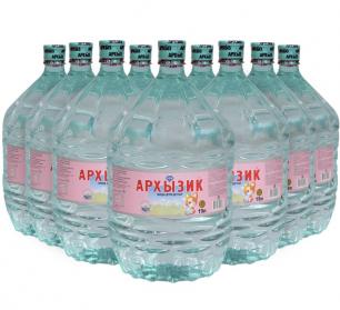 Вода Архызик 9 бутылей по 19 литров, пэт.