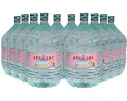 Вода Архызик 10 бутылей по 19 литров, пэт.